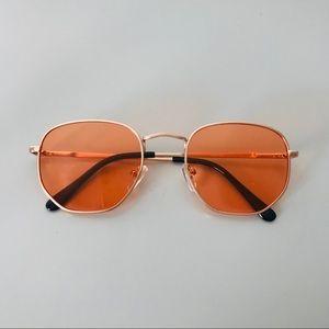 89f867d75d2 Accessories - Retro Square Gold Metal Frame Sunglasses